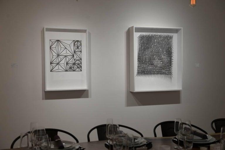 Self Assembly - Gray Abstract Sculpture by Matt Shlian