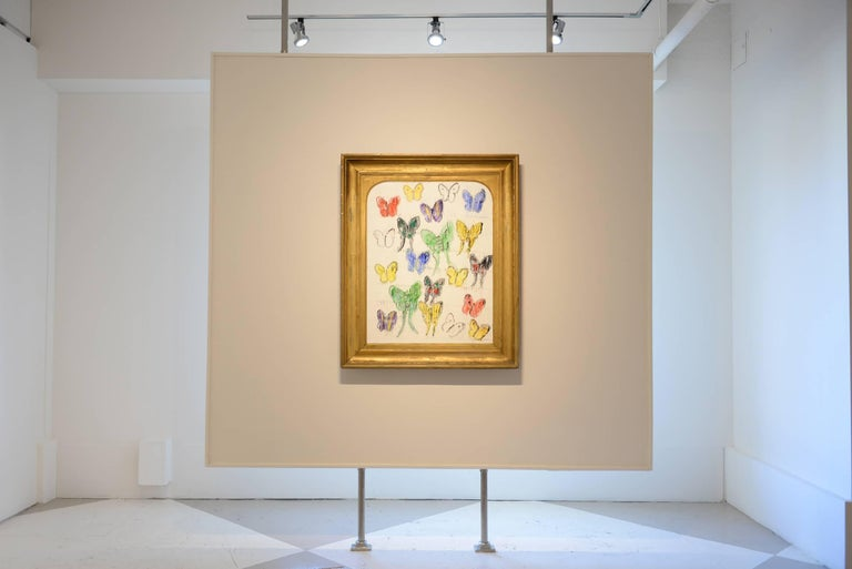 White Butterflies (CER00033) - Painting by Hunt Slonem