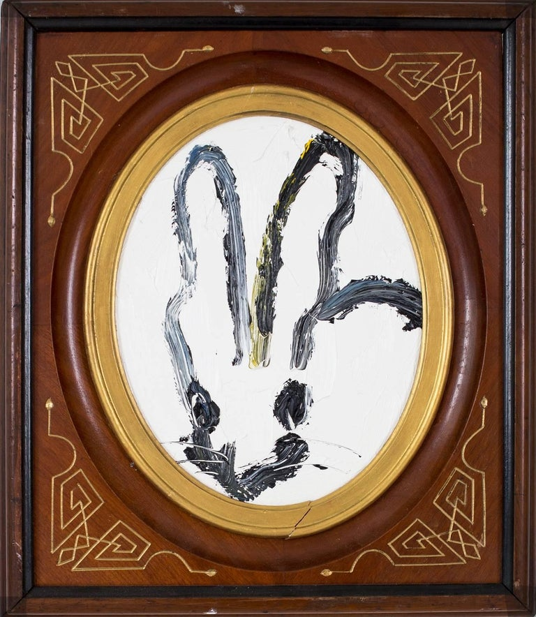 Hunt Slonem Animal Painting - Untitled Bunny