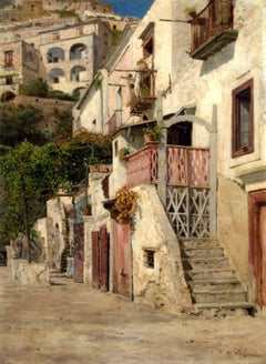 View of Amalfi by Vincenzo Caprile