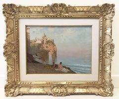 Mermaids. Edoardo Dalbono 19th Century, Italian Figurative & Landscape Painting