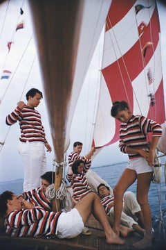 """Adriatic Sailors"" By Slim Aarons, Estate Stamped & Limited, Multiple Sizes"