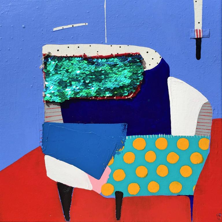 Kate McCarthy Abstract Painting - Corner Chair
