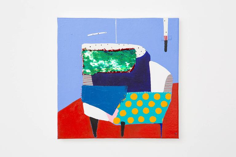 Corner Chair - Painting by Kate McCarthy