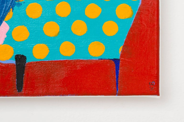 Corner Chair - Abstract Painting by Kate McCarthy