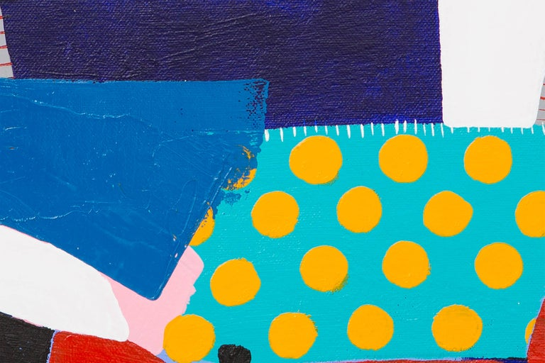 Corner Chair - Blue Abstract Painting by Kate McCarthy