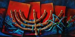 Menorah (Abstract Judaica)