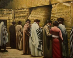 Pilgrims at the Western Wall (Judaica)