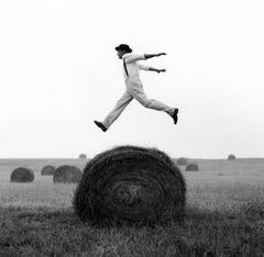 Rodney Smith - Don Jumping over Hay Roll, Monkton, MD