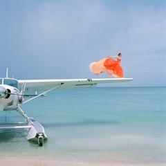 Saori on Sea Plane- famous fashion photograph by Rodney Smith
