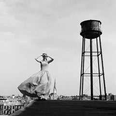 Viktoria, Brooklyn,NY-  20 x 20 in  black and white cityscape
