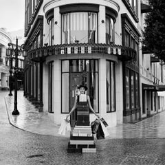 Woman with Chihuahua on Rodeo Drive,Beverly Hills, CA