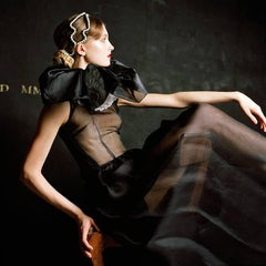 Miriam in Profile- color fashion inspired 20 x 20 inch photograph