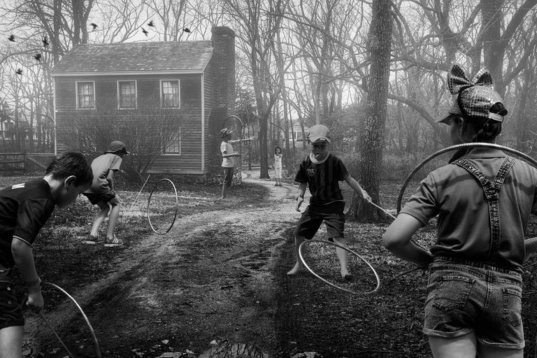 Francisco Diaz and Deb Young ~The Collaboration Project Black and White Photograph - Hoops