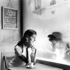 Mira Looking through window at Wessel, Paris, France