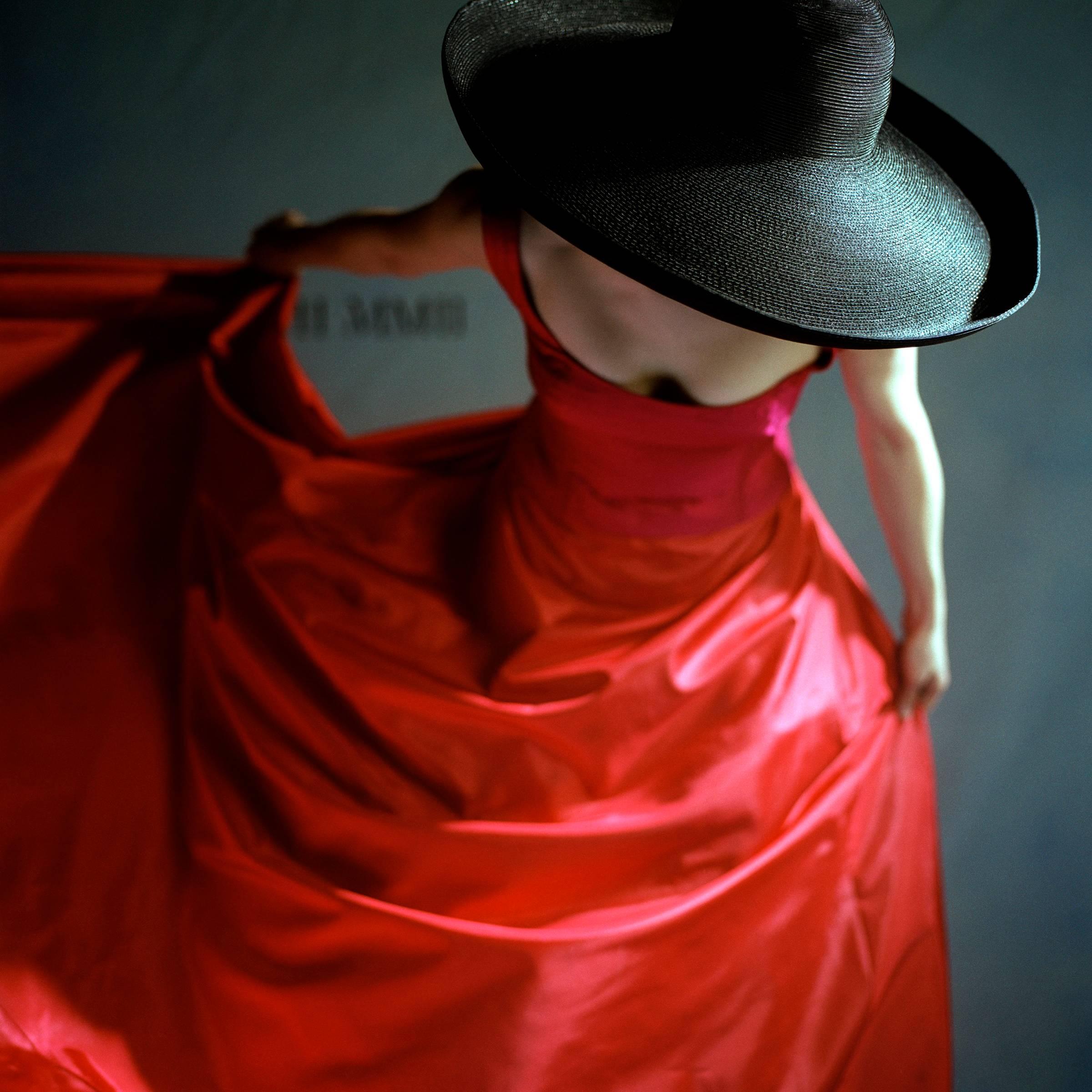 Bernadette Bowing in Red Dress, Snedens Landing