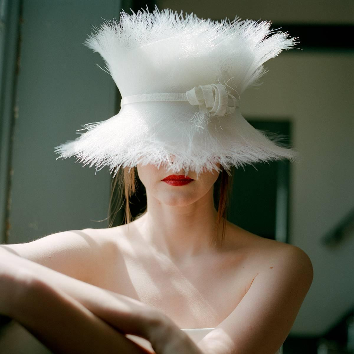 Woman in white hat, Hancock Shaker Village, MA