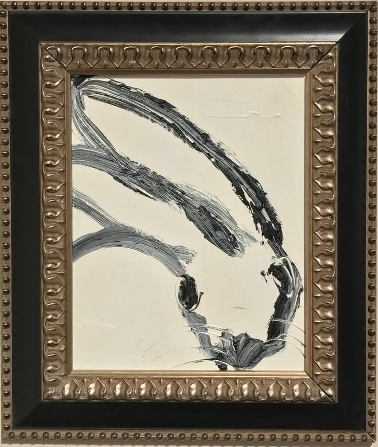 Hunt Slonem - Untitled (Black and White Bunny), Painting For Sale at ...