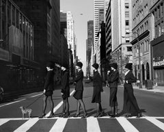 Hemline,  New York, NY- 20 x 24 inch black and white posed fashion photograph