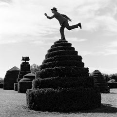 Reed Balancing on top of Topiary, Longwood Gardens, PA