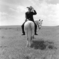 Greg on Horse Backwards, Alberta, Canada