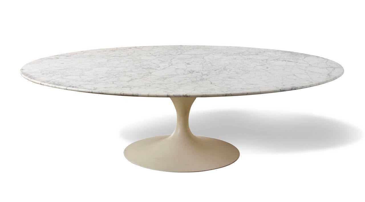 Eero Saarinen Marble Coffee Table 39 Tulip 39 Aluminum And Marble Sculpture At 1stdibs