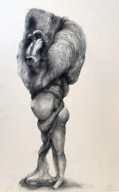 Baboon With Hair