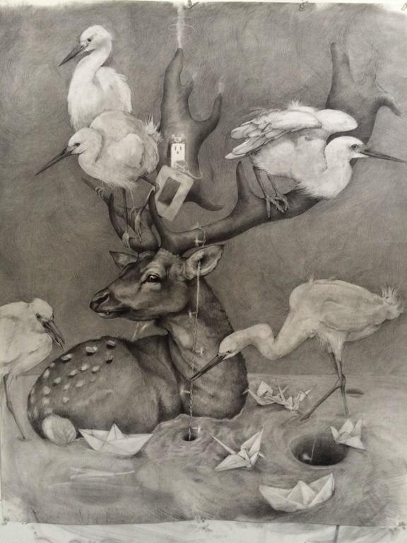 Adonna Khare Animal Art - Deer Outlet
