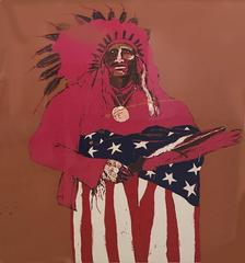 Last Indian With American Flag #87/150