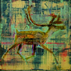 Animal Painting #10-6707 (Caribou)