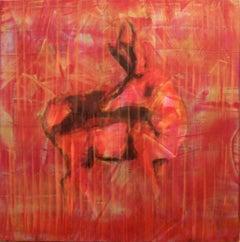 Animal Painting #11-0132 (Antelope)