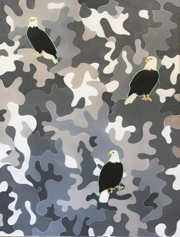 Mike Piggott Animal Painting - Eagles and Camoflage