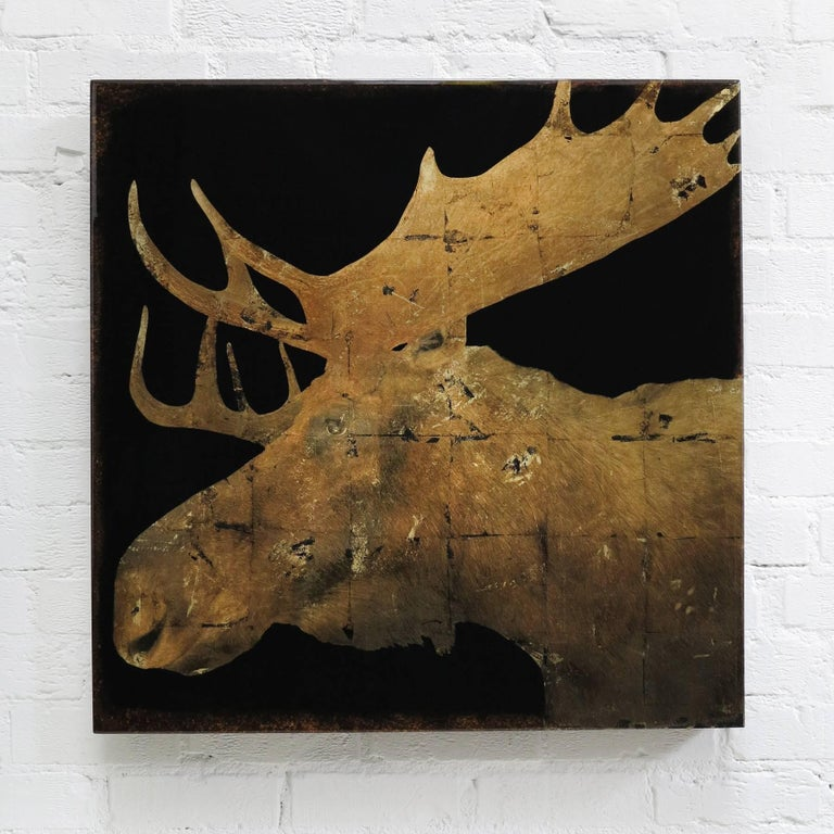 Moose II - Mixed Media Art by Mike Weber
