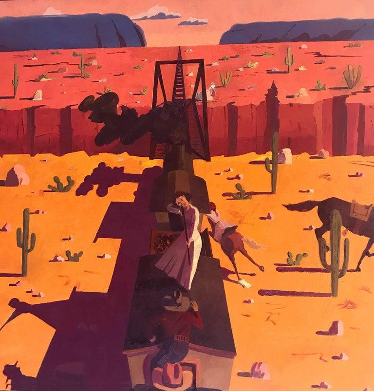The Women Bandits Scene 1 - Painting by Aaron Zulpo