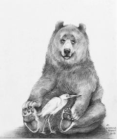 Bear with Egret