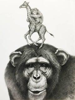 Chimpanzee and Giraffe