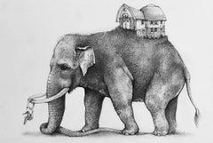 Elephant with House