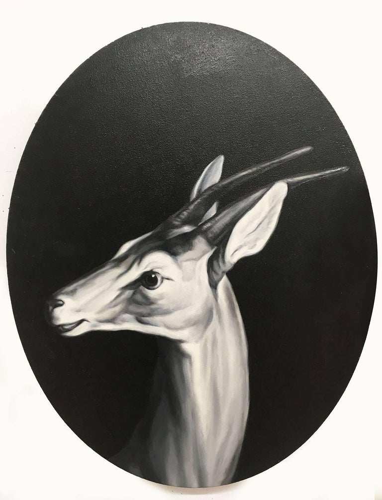 Shelley Reed Animal Painting - Antelope (After Desportes)