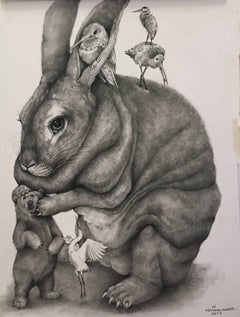 Bunny, Bear, Birds