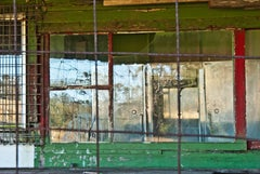 """""""Restructure (New South Wales)"""", photograph, abandoned tea house, red, green"""