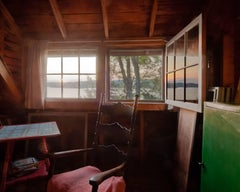 """Cottage Sunrise"", Vicki McKenna, color photograph, window, summer"