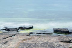 """Colors of the Sea at Rousay"", landscape, photograph, ocean, rock, blue, green"