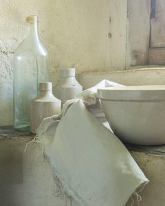 """Study in White"", Vicki McKenna, color photograph, still-life, kitchen, window"