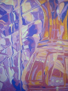"""""""Relationships - Two Vases"""", Marcia Wise, oil painting, reflections, blues"""