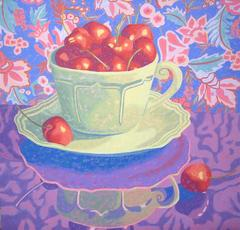 Marcia Wise - Green Cup With Cherries