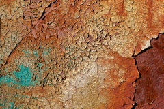 """""""Rough Terrain"""", Rebecca Skinner, abstract, color photo, metal print, rusted"""