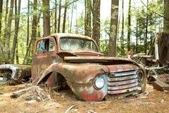 """""""At Rest"""", color photo, metal print, ford, antique, landscape, automobile"""