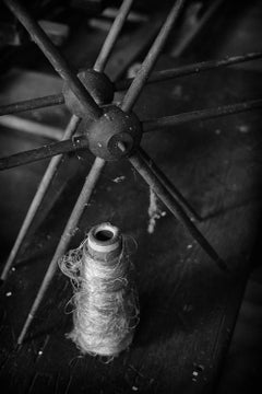 """""""Thread"""", photograph, black and white, abandoned, silk mill, industrial, vintage"""