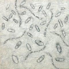 """Dispersion 1"", Kay Hartung, encaustic, graphite, microscopic"