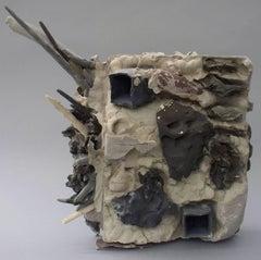 """Block"", Sara Fine-Wilson, abstract, ceramic, sculpture, mixed media"